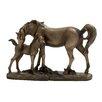 Woodland Imports Adorable Double Horse Figurine