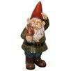 Woodland Imports Garden Gnome with Mushroom Statue