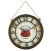 "Woodland Imports 19"" Fabulous Rope Wall Clock"
