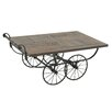 Woodland Imports Wheeled Cart Coffee Table