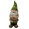 Woodland Imports Gnome Folding Hands Looking Up Garden Statue