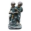 Woodland Imports Girl and Boy Reading Together Statue