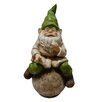 Woodland Imports Gnome on Ball Statue