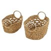 Woodland Imports 2 Piece Captivating Basket Set