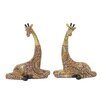 Woodland Imports 2 Piece Giraffe Figurine Set
