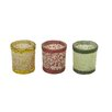 Woodland Imports Glass Votive (Set of 3)