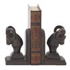 Woodland Imports Ram Head Book Ends (Set of 2)