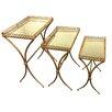 Woodland Imports 3 Piece Nesting Table Set