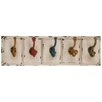 Woodland Imports Country Inspired Wood and Metal Wall Hooks
