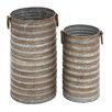 Woodland Imports 2 Piece Round Pot Planter Set