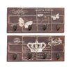 Woodland Imports 2 Piece Butterfly and Crown Themed Wall Hook Panel Set