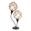 "Woodland Imports Metallic Fishing Net 28"" H Table Lamp with Globe Shade"