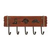 Woodland Imports Stylish Cowboy Themed Wood and Metal Wall Hook
