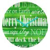 DENY Designs Sophia Buddenhagen Christmas Collection Wall Clock