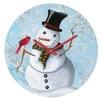 DENY Designs Madart Inc. Winter Cheer Wall Clock