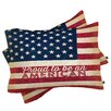 DENY Designs Anderson Design Group Proud to be an American Flag Pillowcase