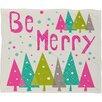 DENY Designs Heather Dutton Be Merry Fleece Polyester Throw Blanket