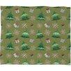 DENY Designs Pimlada Phuapradit Christmas Trees and Snowflakes Fleece Polyester Throw Blanket