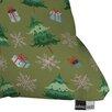 DENY Designs Pimlada Phuapradit Christmas Trees and Snowflakes Throw Pillow