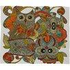 DENY Designs Valentina Ramos 4 Owls Throw Blanket