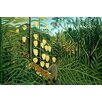 Buyenlarge 'In A Tropical Forest Tiger Attacks A Buffalo' by Henri Rousseau Graphic Art