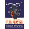 Buyenlarge Women! You are Needed in the National Fire Service by H.M. Stationery Office Vintage Advertisement