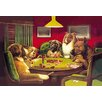"""Buyenlarge 'Dog Poker - """"Is the St. Bernard Bluffing?""""' by C.M. Coolidge Painting Print"""