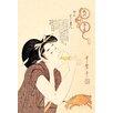 Buyenlarge Drunken Courtesan by Utamaro Painting Print