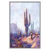 Buyenlarge Cactus and Man Painting Print
