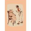 Buyenlarge Shaving the Pig Painting Print
