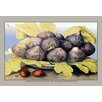Buyenlarge A Dish with Figs, Fig Leaves and Small Pomegranates by Giovanna Garzoni Painting Print