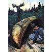 Buyenlarge Moose Hunter Painting Print