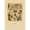 Buyenlarge Asian Pipes by Auguste Racinet Graphic Art