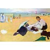 Buyenlarge 'Small Girls on the Beach' by Edward Degas Painting Print