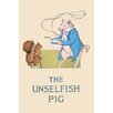 Buyenlarge 'The Unselfish Pig' by Frances Beem Painting Print