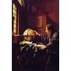 Buyenlarge 'The Astronomer' by Johannes Vermeer Painting Print