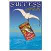 Buyenlarge Success Vintage Advertisement on Wrapped Canvas