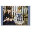 Buyenlarge Le Chemin de fer Painting Print on Wrapped Canvas