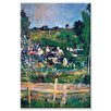 Buyenlarge 'Village Behind the Fence' Painting Print on Wrapped Canvas