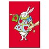 Buyenlarge Alice in Wonderland Horn and Hearts by John Tenniel Graphic Art on Wrapped Canvas