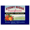 Buyenlarge Stony Ridge Pennsylvania Apples and Peaches Vintage Advertisement on Wrapped Canvas