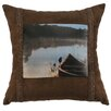 Wooded River Lake Shore Throw Pillow