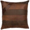 Wooded River Leather/Suede Throw Pillow