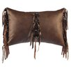 Wooded River Nutmeg Leaf Real Horn Toggle Buttons Lumbar Pillow