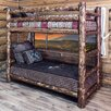 Montana Woodworks® Glacier Country Twin over Twin Bunk Bed with Built-In Ladder