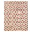 Herat Oriental Hand-Knotted Red / Aqua Area Rug