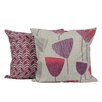 LJ Home Floral Zagzag Printed Throw Pillow (Set of 2)