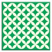 "Oscar & Izzy Folksy Love 6"" x 6"" Glossy Decorative Tile in Needle Point Green"