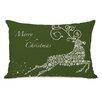 One Bella Casa Holiday Snowflake Reindeer Lumbar Pillow
