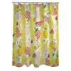 One Bella Casa Tropical Fruit Shower Curtain